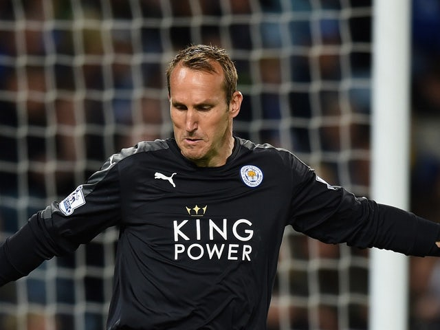 Mark Schwarzer of Leicester in action during the Capital One Cup Third Round match between Leicester City and West Ham United at The King Power Stadium on September 22, 2015
