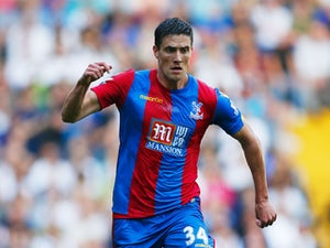 Martin Kelly of Crystal Palace on the ball during the Barclays Premier League match between Tottenham Hotspur and Crystal Palace at White Hart Lane on September 20, 2015