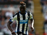 Massadio Haidara of Newcastle United in action during the Barclays Premier League match between Newcastle United and Arsenal at St James' Park on August 29, 2015