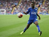 Nathan Dyer of Leicester in action during the Barclays Premier League match between Leicester City and Aston Villa on September 13, 2015