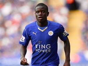 N'Golo Kante of Leicester looks on during the Barclays Premier League match between Leicester City and Tottenham Hotspur on August 22, 2015