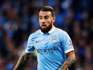 Nicolas Otamendi of Manchester City in action during the Barclays Premier League match between Manchester City and West Ham United at Etihad Stadium on September 19, 2015