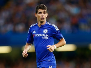 Oscar of Chelsea in action during the Pre Season Friendly match between Chelsea and Fiorentina at Stamford Bridge on August 5, 2015