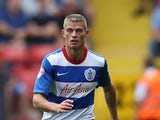 Paul Konchesky of Queens Park Rangers during the Sky Bet Championship match between Charlton Athletic v Queens Park Rangers at The Valley on August 8, 2015