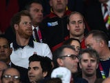 Harry and Wills watch the Rugby World Cup game between England and Wales on September 26, 2015