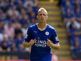 Ritchie De Laet of Leicester City in action during the Barclays Premier League match between Leicester City and Sunderland at the King Power Stadium on August 8, 2015