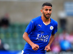 Riyad Mahrez of Leicester City during the Pre Season Friendlly match between Lincoln City and Leicester City at Sincil Bank Stadium on July 21, 2015