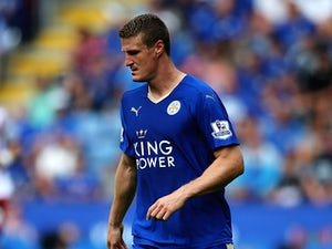 Robert Huth of Leicester City in action during the Barclays Premier League match between Leicester City and Sunderland at The King Power Stadium on August 8, 2015