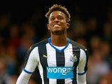 Rolando Aarons of Newcastle United in action during the pre season friendly match between York City and Newcastle United at Bootham Crescent on July 29, 2015