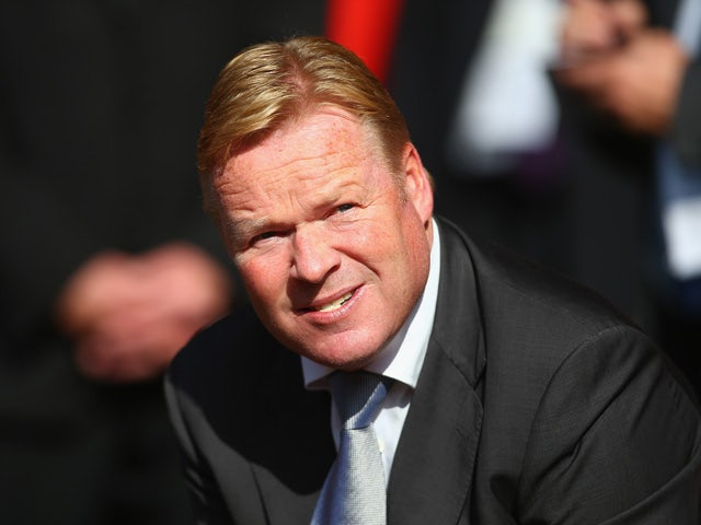 Ronald Koeman manager of Southampton looks on prior to the Barclays Premier League match between Southampton and Swansea City at St Mary's Stadium on September 26, 2015