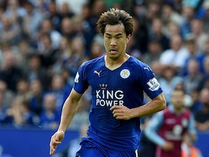 Shinji Okazaki of Leicester in action during the Barclays Premier League match between Leicester City v Aston Villa at the King Power Staduim on September 13, 2015