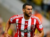Steven Caulker of Southampton in action during the Barclays Premier League match between Watford and Southampton at Vicarage Road on August 23, 2015 in Watford, United Kingdom.
