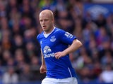 Steven Naismith of Everton in action during the Barclays Premier League match between Everton and Chelsea at Goodison Park on September 12, 2015