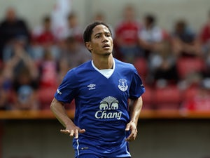 Steven Pienaar of Everton in action during the Pre Season Friendly match between Swindon Town and Everton at the County Ground on July 11, 2015 in Swindon, England.