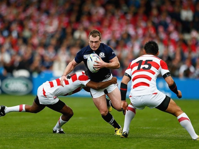 Stuart Hogg of Scotland during the Rugby World Cup game with Japan on September 23, 2015