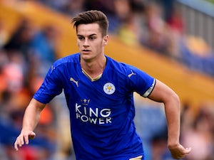 Tom Lawrence the manager of Leicester City during the pre season friendly match between Mansfield Town and Leicester City at the One Call Stadium on July 25, 2015