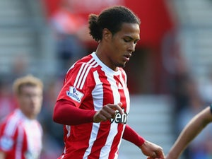 Virgil van Dijk of Southampton in action during the Barclays Premier League match between Southampton and Swansea City at St Mary's Stadium on September 26, 2015 in Southampton, United Kingdom.