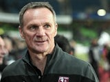 Metz's French coach Albert Cartier attends the French L1 football match between Rennes and Metz at the Route de Lorient stadium in Rennes, western France, on March 7, 2015