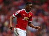 Anthony Martial of Manchester United in action during the Barclays Premier League match between Manchester United and Sunderland at Old Trafford on September 26, 2015 in Manchester, United Kingdom.
