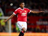 Antonio Valencia of Manchester United during the Capital One Cup Third Round match between Manchester United and Ipswich Town at Old Trafford on September 23, 2015 in Manchester, England.