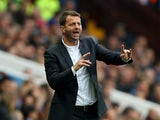 Tim Sherwood Manager of Aston Villa gestures during the Barclays Premier League match between Aston Villa and Stoke City at Villa Park on October 3, 2015