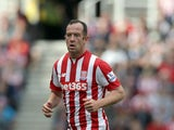 Charlie Adam of Stoke City during the Barclays Premier League match between Stoke City and West Bromwich Albion at Britannia Stadium on August 29, 2015