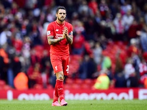 Liverpool's English striker Danny Ings applauds supporters after the English Premier League football match between Liverpool and Norwich City at the Anfield stadium in Liverpool, north-west England on September 20, 2015.
