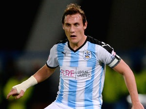 Dean Whitehead of Huddersfield Town during the Sky Bet Championship match between Huddersfield Town and Nottingham Forest at John Smiths Stadium on September 24, 2015 in Huddersfield, England.
