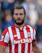Erik Pieters of Stoke City during the Barclays Premier League match between Stoke City and Leicester City on September 19, 2015