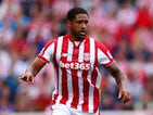 Glen Johnson of Stoke City in action during the Barclays Premier League match between Stoke City and Liverpool at Britannia Stadium on August 9, 2015
