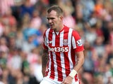 Glenn Whelan of Stoke City during the Barclays Premier League match between Stoke City and West Bromwich Albion at Britannia Stadium on August 29, 2015