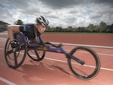 British wheelchair athlete and BT Ambassador Hannah Cockroft MBE in action.