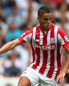 Ibrahim Afellay of Stoke City in action during the Barclays Premier League match between Tottenham Hotspur and Stoke City on August 15, 2015