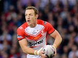 James Roby of St Helens during the First Utility Super League Grand Final between St Helens and Wigan Warriors at Old Trafford on October 11, 2014