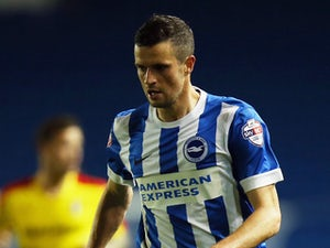 Jamie Murphy of Brighton & Hove Albion in action during the Sky Bet Championship match between Brighton & Hove Albion and Rotherham United at Amex Stadium on September 15, 2015 in Brighton, England.