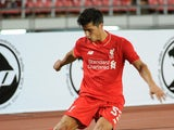 Joao Carlos Teixeira of Liverpool kicks the ball during the international friendly match between Thai Premier League All Stars and Liverpool FC at Rajamangala Stadium on July 14, 2015 in Bangkok, Thailand.