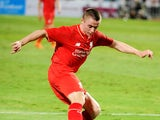 Jordan Rossiter of Liverpool in action during the international friendly match between Thai Premier League All Stars and Liverpool FC at Rajamangala Stadium on July 14, 2015 in Bangkok, Thailand.