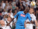 Legia's Tomasz Jodlowiec (R), Michal Pazdan(L), Jakub Rzezniczak (2nd L) vie for the ball with Napoli's Kalidou Koulibaly during the UEFA Europa League first-leg Group D football match Legia Warszawa v SSC Napoli in Warsaw, Poland on October 1, 2015