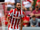 Marc Wilson of Stoke City runs with the ball during the Colonia Cup 2015 match between FC Porto and Stoke City FC at RheinEnergieStadion on August 2, 2015
