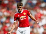 Michael Carrick of Manchester United in action during the Barclays Premier League match between Manchester United and Newcastle United at Old Trafford on August 22, 2015 in Manchester, United Kingdom.