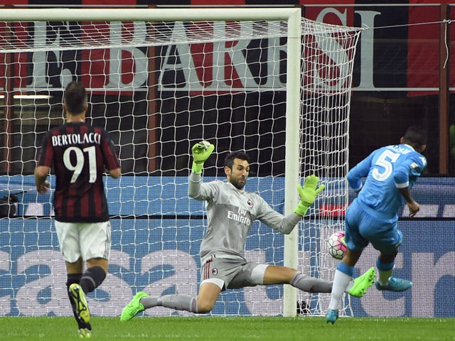 Result: Napoli put four past lowly AC Milan