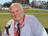 Peter Alliss the BBC Golf commentator during the third round of the Ricoh Women's British Open at the Old Course, St Andrews on August 3, 2013