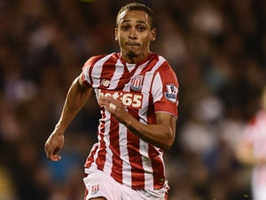 Peter Odemwingie of Stoke City in action during the Capital One Cup Third Round match between Fulham and Stoke City at Craven Cottage on September 22, 2015