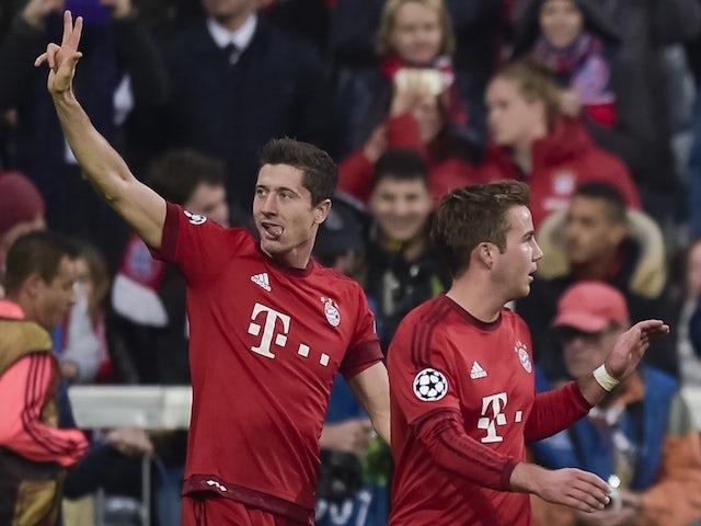 Result: Lewandowski nets treble in Bayern rout
