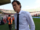 Head Coach Rudi Garcia of Roma looks on during the Serie A match between US Citta di Palermo and AS Roma at Stadio Renzo Barbera on October 4, 2015 in Palermo, Italy.