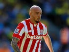 Stephen Ireland of Stoke City during the Barclays Premier League match between Norwich City and Stoke City at Carrow Road on August 22, 2015