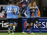 Tottenham Hotspur's Argentinian midfielder Erik Lamela (2nd R) celebrates after scoring a goal with Tottenham Hotspur's English striker Harry Kane (R) and teammates during the UEFA Europa League group J football match between AS Monaco and Tottenham Hotsp