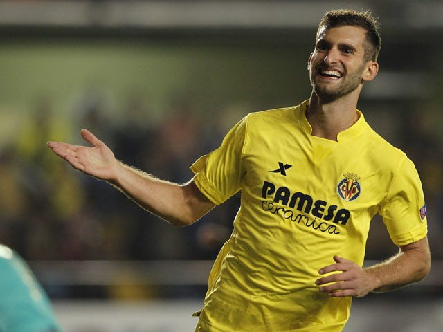 Villarreal 39 s brazilian forward leonardo carrilho baptistao celebrates his goal during the uefa - Villarreal fc league table ...
