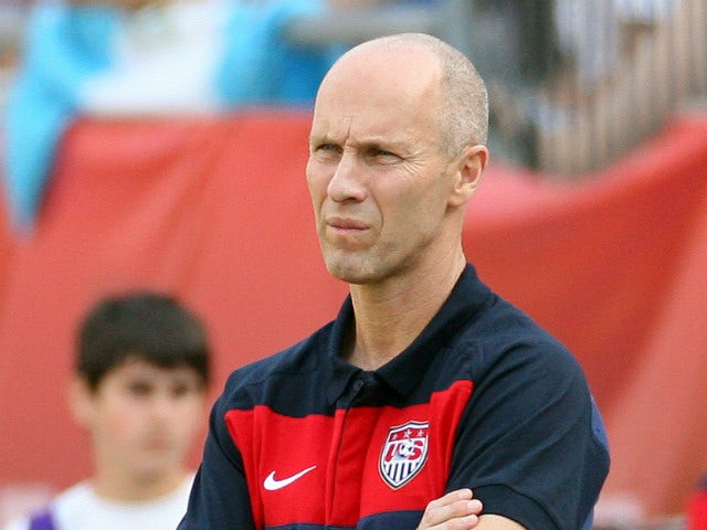 Head Coach Bob Bradley of the United States watches his team lose to Spain at Gillette Stadium on June 4, 2011 in Foxboro, Massachusetts.