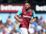 Carl Jenkinson of West Ham United during the Betway Cup match between West Ham Utd and SV Werder Bremen at Boleyn Ground on August 2, 2015 in London, England.